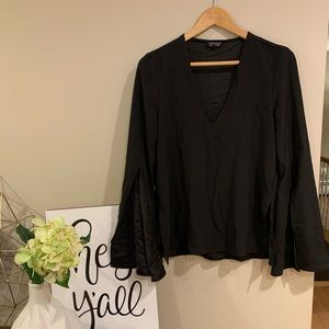EUC | TopShop Bell Sleeve Top
